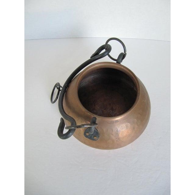 Hanging Turkish Copper Pot - Image 3 of 6