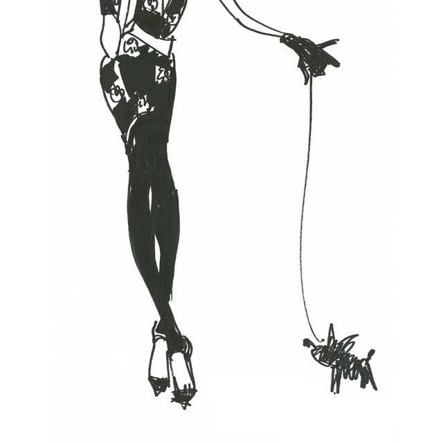 "Daniela Kamiliotis ""Linda"" Fashion Illustration - Image 3 of 3"