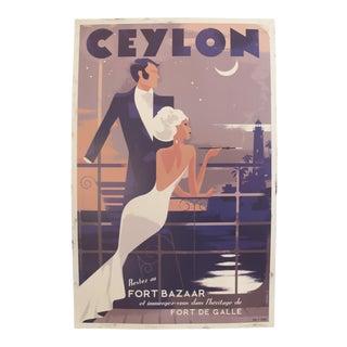 Danish Modern Travel Poster, Ceylon Sri Lanka