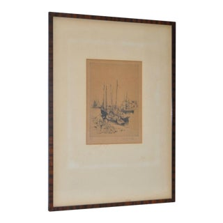 1920 French Pencil Signed Etching
