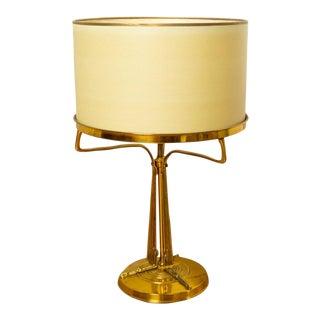 Antique French Art Nouveau / Deco Bronze Transitional Table Lamp