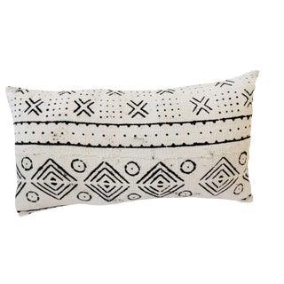 African Mudcloth Bogolan Lumbar Pillow
