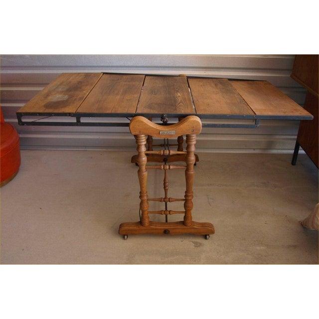 Yesbera Antique Baker Tilt Table/Shelving Unit - Image 4 of 8