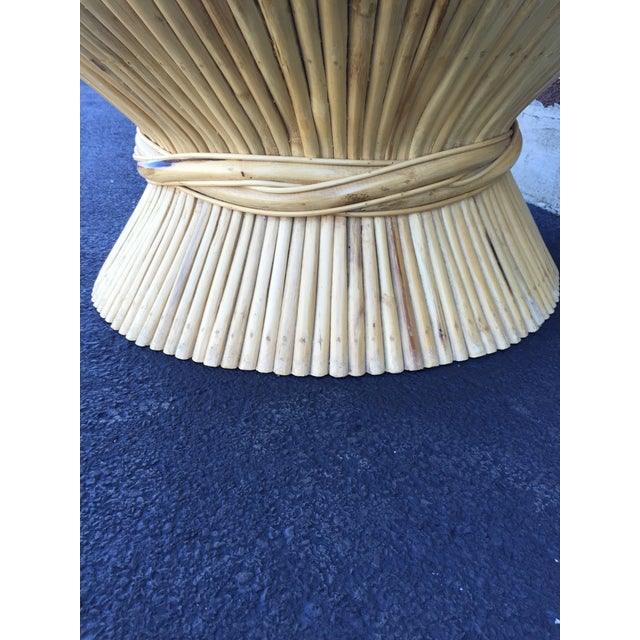 Image of McGuire Vintage 1970s Rattan Sheaf Coffee Table
