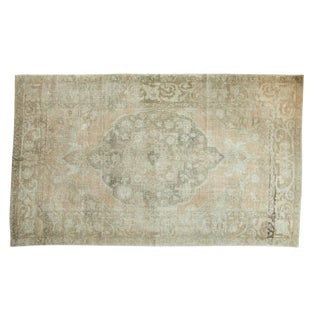 "Vintage Distressed Oushak Carpet - 5'8"" X 9'4"""