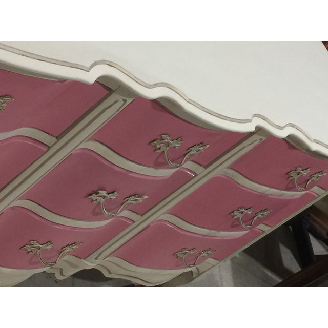 Pink & White French Provincial Dresser - Image 7 of 9