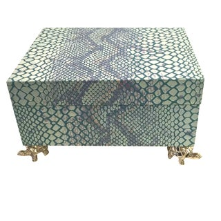 Blue Snakeskin Box