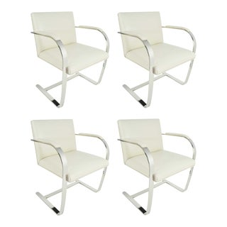 Set of Four Flat Bar Brno Chairs