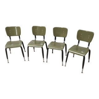 American Desk Manufacturing Co student chairs - set of 4
