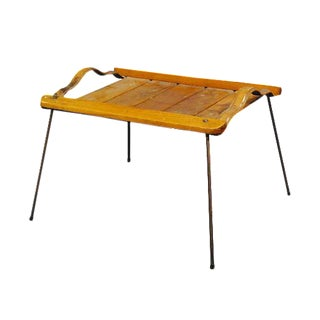 Jacques Adnet Style Serving Tray Table