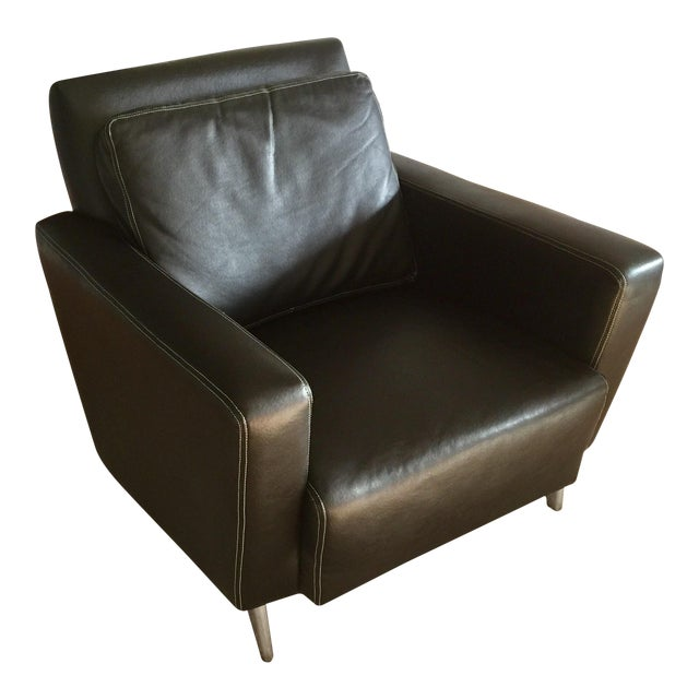 Jensen-Lewis Black Genuine Leather Chair - Image 1 of 10