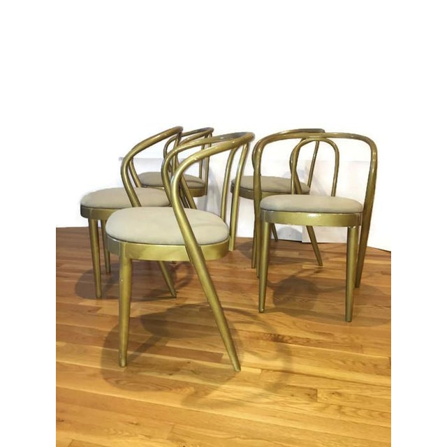 Vintage Modern Bentwood Dining Chairs - Set of 5 - Image 4 of 11