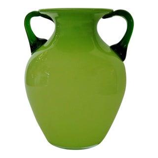 Italian Glass Amphora Vase