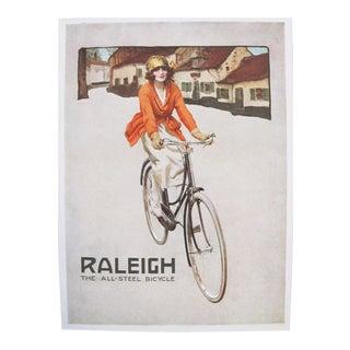 1920s Mini Bicycle Poster, Raleigh Steel Bike Ad