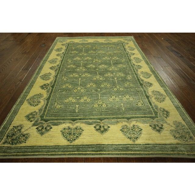 "Green Chobi Gabbeh Oriental Rug - 6'1"" x 9'3"" - Image 2 of 10"