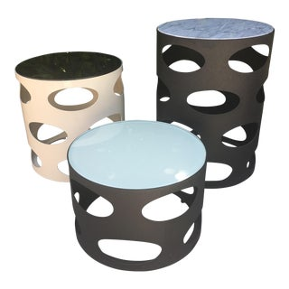 Modern Round Side Tables - Set of 3