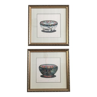 Hand Colored Signed Prints by Dan Mytra - a Pair