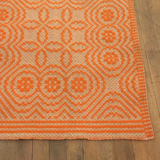 Orange Italian Artisan Rug - 2′3″ × 4′6″ - Image 3 of 4