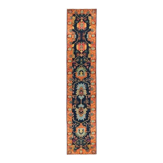"""Eclectic Hand Knotted Runner Rug - 2' 8"""" X 13' 8"""""""