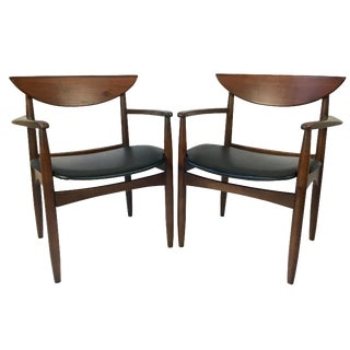 Lane Perception Modernist Armchairs - a Pair