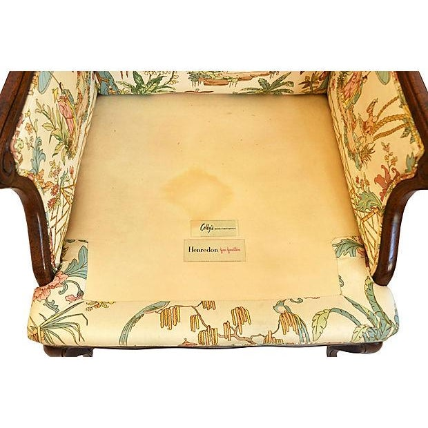 Henredon Chinese Chippendale Wingback Chair - Image 5 of 6