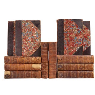 Distressed Leather Shakespeare Books - Set of 12