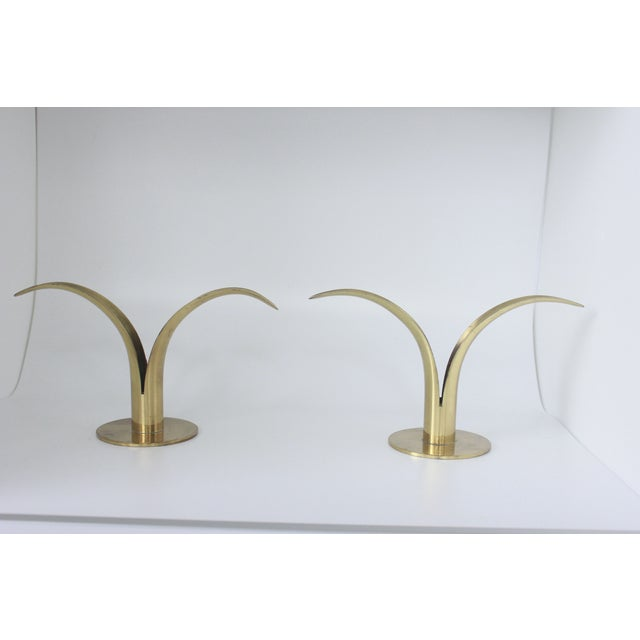Ystad Metall Swedish Brass Candlesticks- A Pair - Image 8 of 8