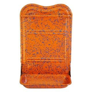 French Marbleized Enameled Utensil & Towel Rack