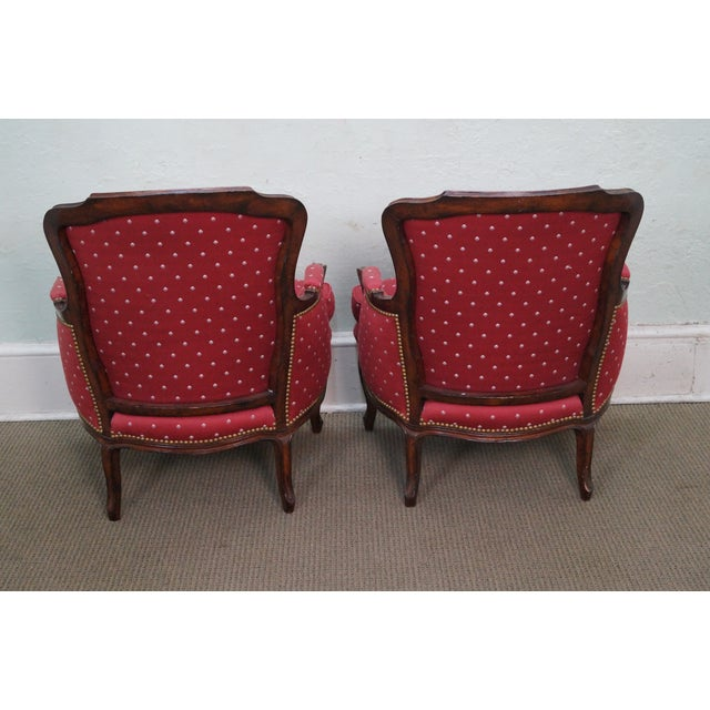 French Louis XV Style Bergere Chairs - A Pair - Image 4 of 10