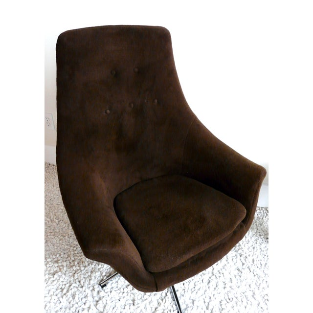 A Shapely Swivel Seat Inspired By Mid Century Design Our: Overman Style Mid-Century Brown & Chrome Egg Chair