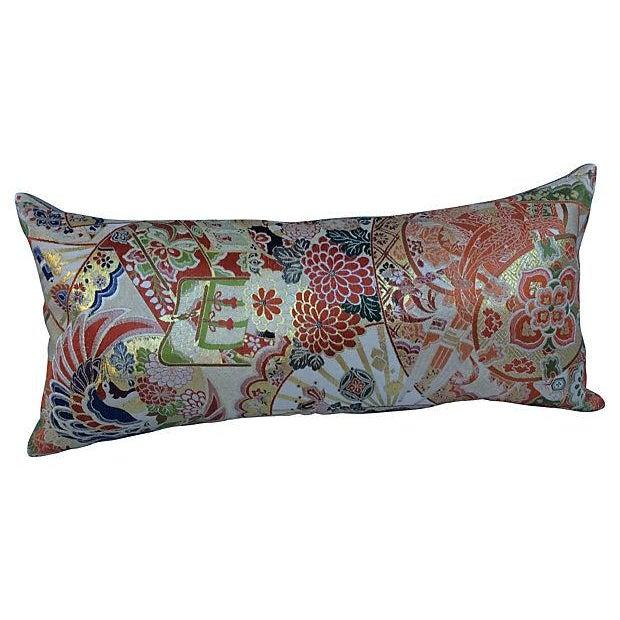 Japanese Obi Silk Metallic Pillow - Image 6 of 6