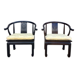 Vintage Century Asian Chinoiserie Chairs - A Pair