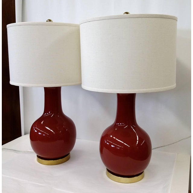 Lamps by Safavieh in Chinese Red - Pair - Image 9 of 11
