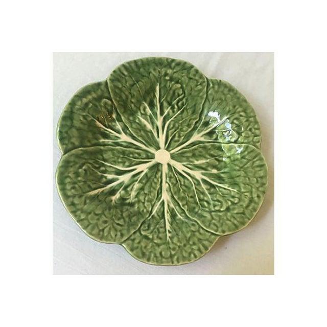 Vintage Green Cabbage Leaf Serving Plate - Image 2 of 5