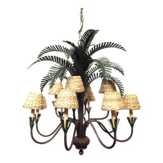 Currey & Co. Palm Tree Chandelier