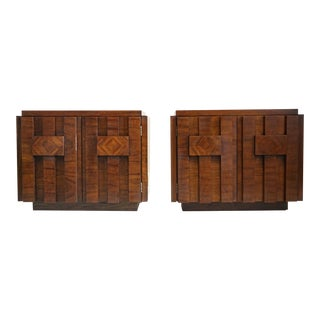 Mid-Century Brutalist Side Tables