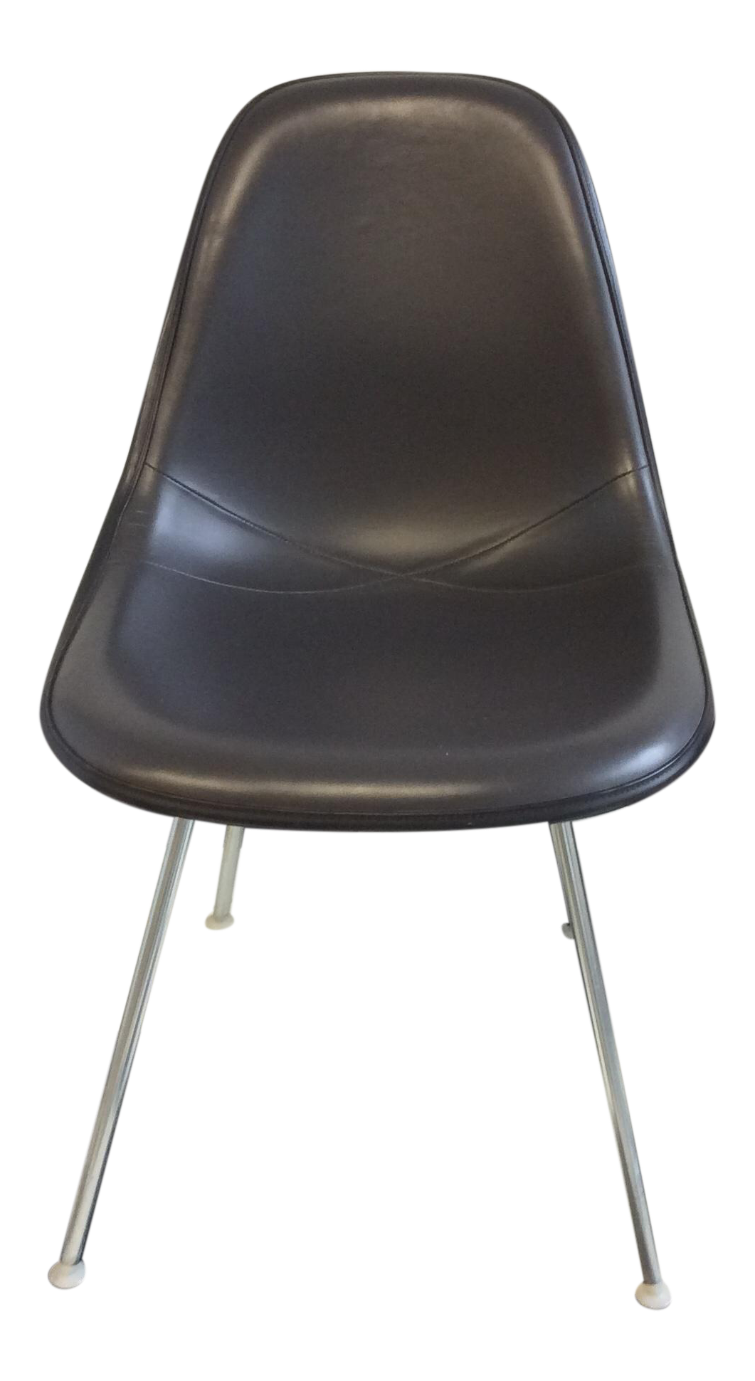 Eames Padded Molded Fiberglass Chair   Dark Grey