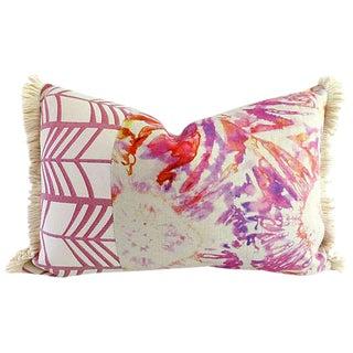 Kim Salmela Linen Lumbar Throw Pillow