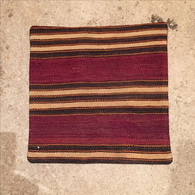 Vintage Striped Kilim Pillow Case - Image 2 of 5