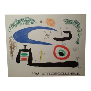 Miro at Pace / Columbus Exhibition Lithograph 1979