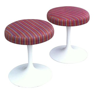Eero Saarinen Tulip Stools with Girard Fabric