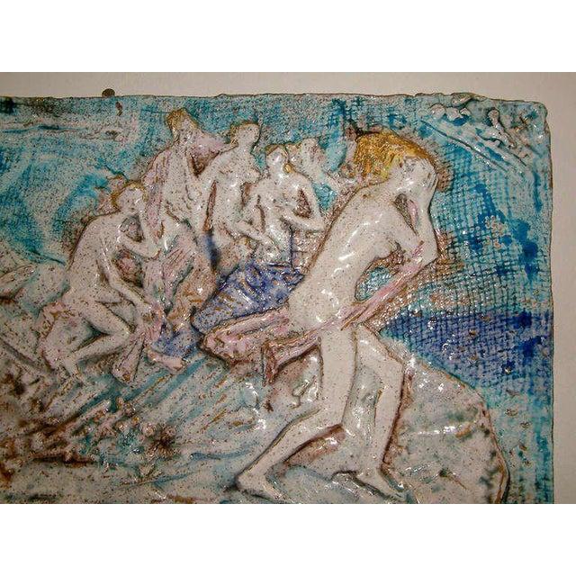 Ugo Lucerni Majolica Wall Relief Sculpture - Image 4 of 6