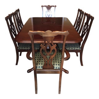 Thomasville Cherry Wood Dining Set - Set of 9
