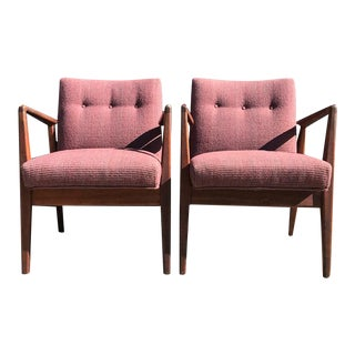Jens Risom Mid-Century Accent Chairs - A Pair