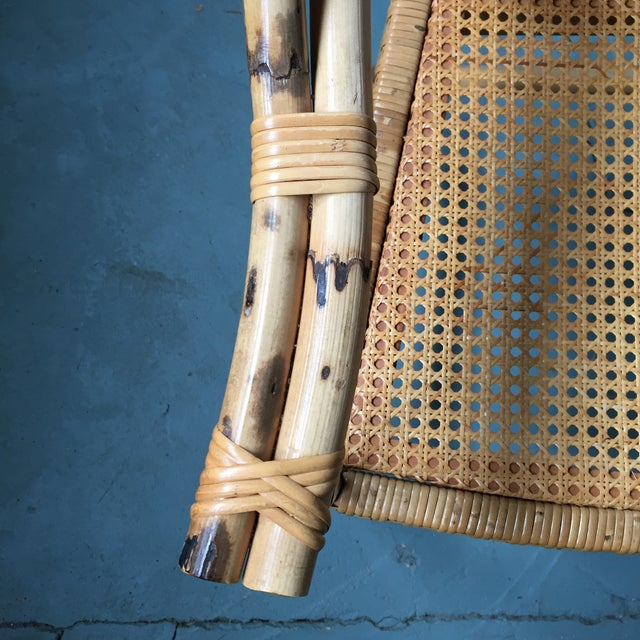 Bamboo and Cane Dining Chairs - Set of 4 - Image 10 of 11