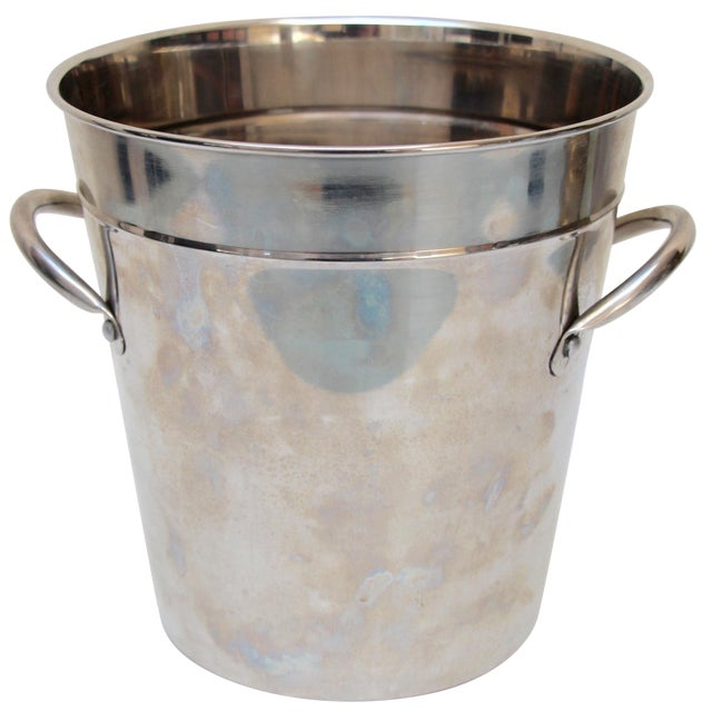 Silverplated Ice Bucket with Handles - Image 1 of 7