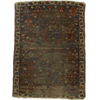 Hand-Knotted Wool Russian Rug - 3′ × 4′1″