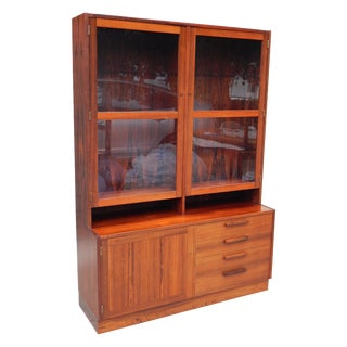 Swedish Rosewood Glass Front Cabinet Circa 1960