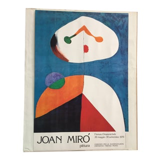 Joan Miro Original Poster from 1979 Exhibition Florence, Italy