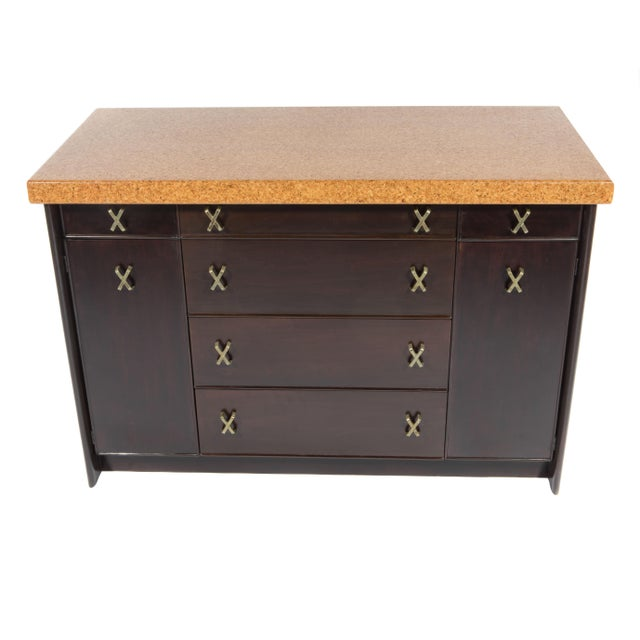 Image of CORK-TOP SIDEBOARD BY PAUL FRANKL FOR JOHNSON FURNITURE, CIRCA 1950S